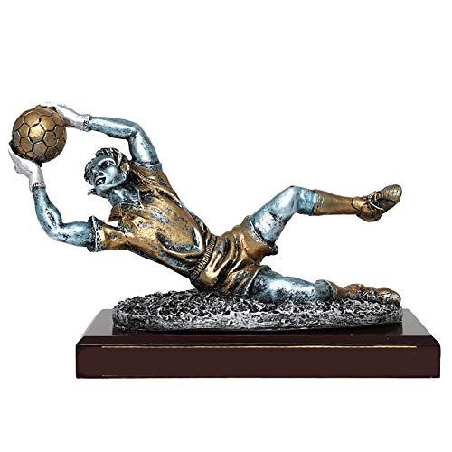 SPORS Trofeo de fútbol para Portero de Resina Copa de Portero Guantes de Oro balón de Oro Botas de Oro Trofeo Ventilador Personalizado decoración de Regalo de cumpleaños