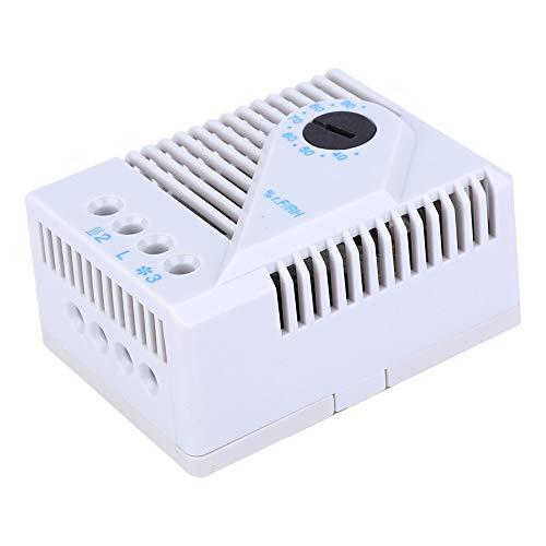 Controlador de humedad Higrostato de resistencia al calor de alta calidad Calentador de ventilador Material de PC Carcasa Alta resistencia MFR012 para gabinete de TV para ajustador de(MFR012)