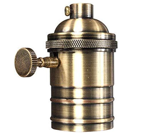 Casquillo E27 vintage - Edison E27 casquillo bombilla de rosca industrial para...