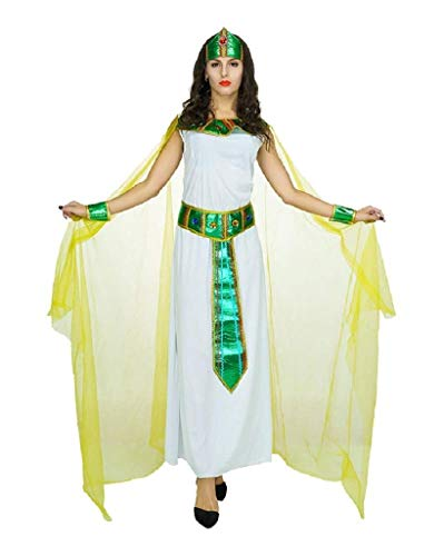 EVRYLON Disfraz de Carnaval Egipcio sacerdotisa Vestal Cleopatra Nefertiti Talla única Cosplay