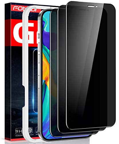 Fotbor Privacy Screen Protector for iPhone 12 Pro Max, [3 Pack]iPhone 12 Pro Max Privacy Screen Protector Full Coverage [Anti-Spy] Shatterproof 9H Tempered Glass Film for Apple iPhone 12 Pro Max 6.7'