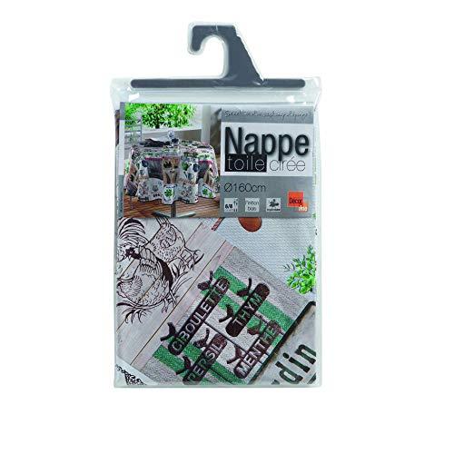 NAPPE RONDE (0) 160 CM PVC PHOTOPRINT MARCHE FERMIER