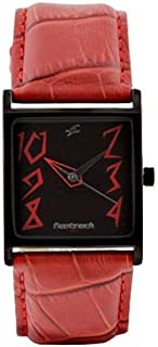 Fastrack Basics Women's Dark Gray Dial Leather Band Watch - T9735NL01