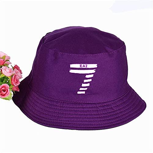 Kuletieas Gorro Pescador Sombrero para Mujer para Hombre Pequeño número 7 Siete Imprimir Sombrero de Cubo de Panamá Gorra de Novela Gorra de Verano Visera de Sol Sombrero de Pescador de Pesca