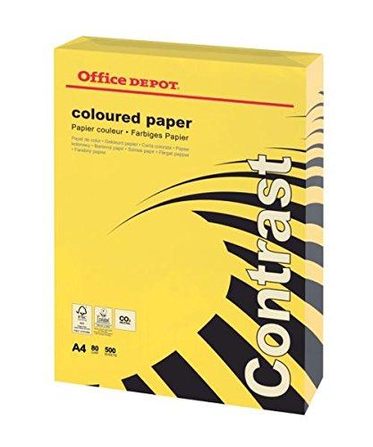 niceday Kopierpapier Sonnengelb A480gr. Office Depot Packung 500Blatt