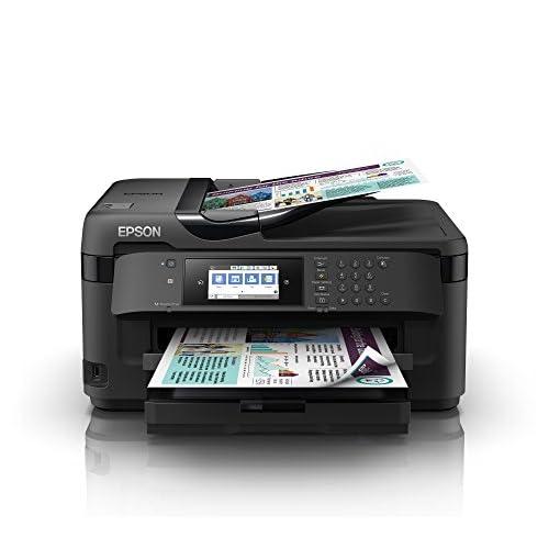 Epson WorkForce WF-7710DWF, Stampante Multifunzione 4-in-1, A3 Fronte/Retro, Connettività Wi-fi e NFC, Touch Screen da 10.9 cm, 18 Pagine al Minuto