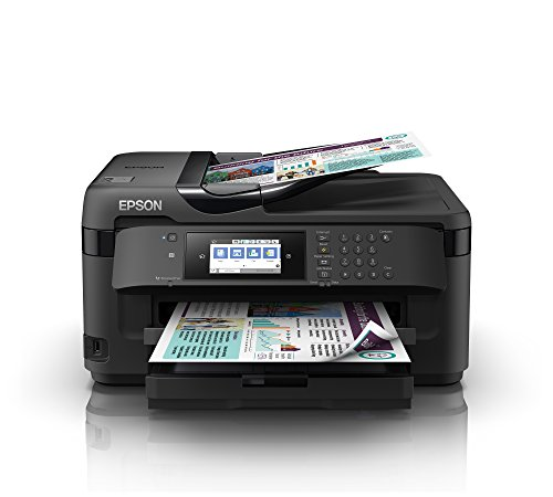 Epson Workforce WF-7710DWF Inyección 32ppm WiFi - Impresora multifunción (Inyección de Tinta, Impresión a Color, 4800 x 2400 dpi, 250 Hojas, A3, Negro) Ya Disponible en Amazon Dash Replenishment
