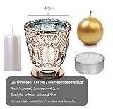 Feste Feiern Teelichthalter Castello 4er-Set Glas 8x7cm Altrosa Rose´ Kerzenhalter Windlicht Dekoration Tafel edle Tischdeko Advent - 4