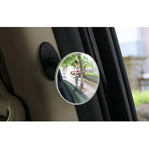 Iswell Espejos de Punto Ciego para automóviles Coche 360 Gran Angular Redondo Espejo Convexo Lado Punto Ciego Espejo de Punto Ciego Espejo Redondo pequeño Espejo retrovisor Convexo