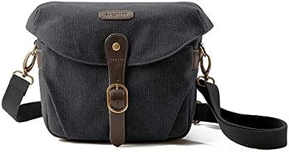 Camera Bag, BAGSMART SLR DSLR Canvas Camera Case, Vintage Padded Shoulder Bag with Rain Cover for Women, Men, Black