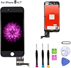 Screen Replacement Compatible with iPhone 8 Black 4.7 Inch LCD - Compatible with iPhone 8 4.7 inch 3D Touch Screen Display Repair Kit Assembly with Complete Repair Tools (Black)