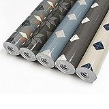 CV Bodenbelag Retrotex - PVC Bodenbelag Meterware - Vinylboden Laminatboden - Glänzende Fliesenoptik im Retro-Design - besonders gut für Küche & Badezimmer (100 x 200 cm, Avondale 791m)