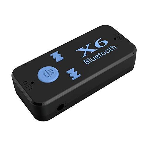 Peanutaoc Auto X6 Muziek Ontvanger Adapter 3.5mm Jack Draadloze Handsfree Auto Kit met TF Card Reader Functie