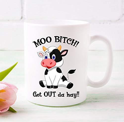 Ad4ssdu4 Moo Bitch Raus aus Da Hay Mug GIFT54MUG uit de Hay Funny Cow Pun koffiemok koffiemok Valentijnsdag cadeau verjaardagscadeau