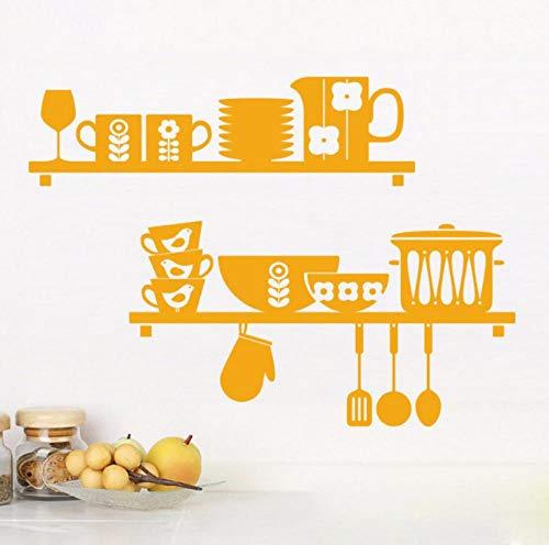 Lxwrnv Diy Küchenregal Wandaufkleber Küche Dekorative Wandtattoo Wand Dekoration 80 * 100 Cm