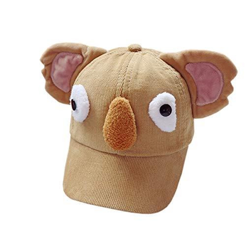 XueXian Unisex Baby Cap mit Elefant-Design,Sonnenhut aus Baumwolle,Kids Kappe Hut(Khaki)
