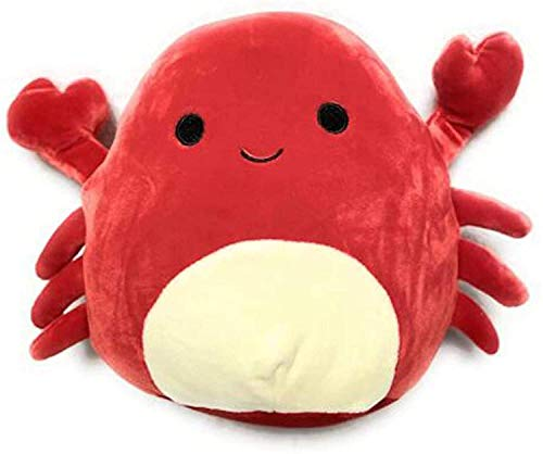 Jesokiibo 2021 Crab Plush Pillow Animals Doll Toys PP Cotton Filler Soft Plush Toys Plush Stuffed Animal Toy Ornaments Plush Toy The Crab Throw Pillows Birthday Gift for Family, Home Ornaments