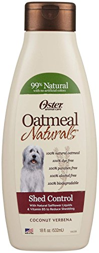Oster Oatmeal Essentials Shampoo, 18-Ounce, Shed Control