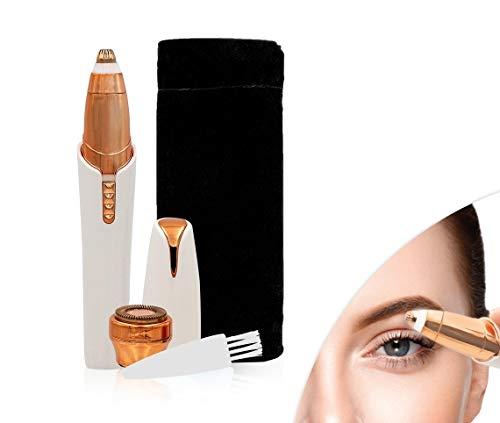 Roxy Perfect Brows Augenbrauen-Rasierer mit LED-Licht | spritzwasserfest | schmerzfrei | mit Wechsel-Aufsatz für Gesichts-Härchen | Augenbrauen Trimmer | Das Original aus dem TV