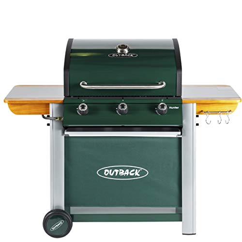 Outback Hunter 3 Burner Gas BBQ - Green
