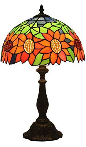 AWCVB Lampada da Tavolo Tiffany, Europeo Pastorale retrò Creativo Notte Lampada da Letto Camera da Letto Bar Caffetteria tè Lampade da Tavolo Decorative