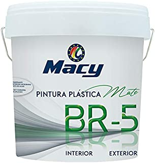 PINTURA PLASTICA MATE LAVABLE COLOR BLANCO ANTIMOHO PARA INT