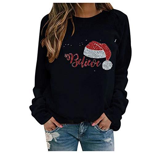 Sudadera Navidad Mujer Jersey Anchas Moda Mujer 2020,Sudader