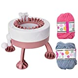 Macchina per maglieria, telaio per tessitura, maglione per adulti per tessitura a mano intelligente portatile rotondo fai-da-te professionale per bambini Cappello sciarpa a maglia