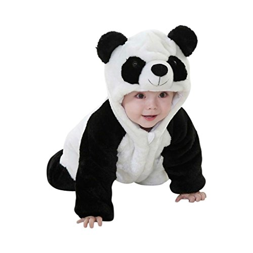 Katara 1778 Costume Panda Neonati Bambini Tuta Kigurumi Animale Pigiama Intero con Cappuccio Bambino 12-18 Mesi