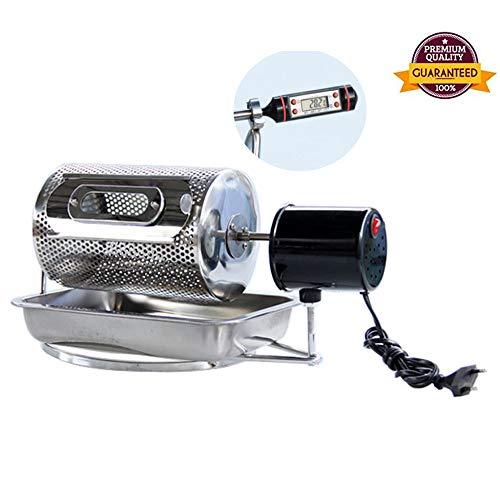 Acier inoxydable Ménage Machine de torréfacteur de café avec thermomètre, petit rouleau à la...