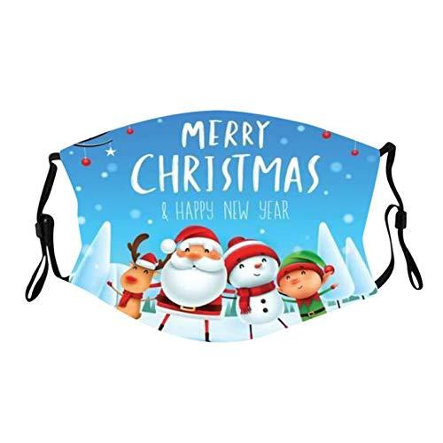 1/5 Stück Baumwolle Mundschutz Mund und Nasenschutz Erwachsene Weihnachtsmotiv Wiederverwendbar Waschbar Atmungsaktiv Staubs-chutz Mundbedeckung für Weihnachten den Außenbereich (1Stück, B6)