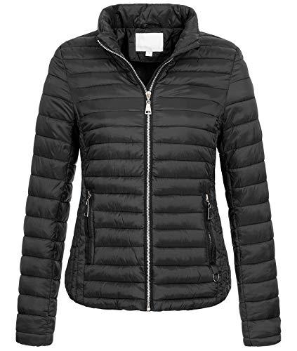 Rock Creek Damen Steppjacke Übergangsjacke Leicht Outdoorjacke Damenjacke Frauen Jacken Gesteppte Jacken Herbstjacke Jacke Weste D-427 Schwarz M