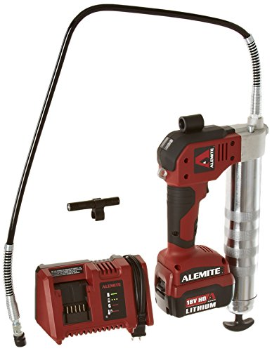Alemite 595-A 18V Lithium-Ion Powered Grease Gun, 8,000 psi Pressure, 25 Cartridges per Charge, 6.0...