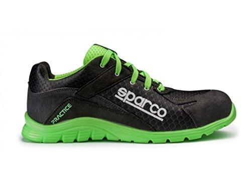 Sparco 0751745NRVF Zapatillas, Negro/Verde, 45