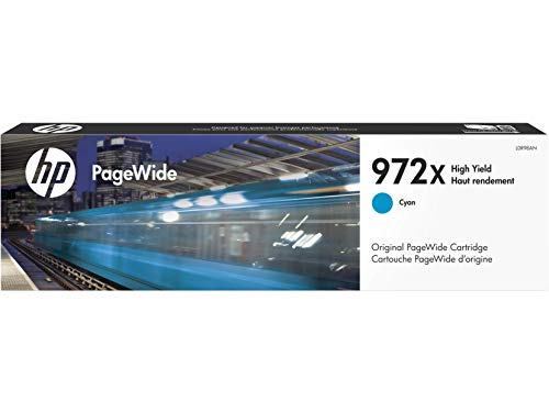HP 972X | PageWide Cartridge High Yield | Cyan | Works with HP PageWide Pro 452 Series, 477 Series, 552dw, 577 Series | L0R98AN
