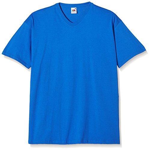 Fruit of the Loom Herren V-Neck Valueweight T-Shirt, königsblau, L
