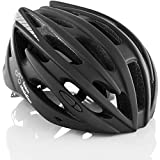 TeamObsidian Bicycle Helmet - for Adult Men and Women - Model G1342 - Color Black - Size S/M 54cm-58cm
