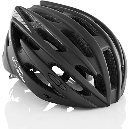 TeamObsidian Airflow Bike Helmet - for Adult Men & Women and Youth/Teenagers - CPSC Certified Bicycle Helmets for Road, Urban, Street or Mountain Biking - Best Cycling Gift Idea - [ Black S/M ]