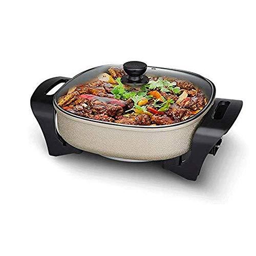Feceyq Multifunktionale Haushalt Elektro Hot Pot, 3 Geschwindigkeiten, freier Temperaturregler, zum Braten verwendet Werden kann, Kochen, Schmoren, Brät