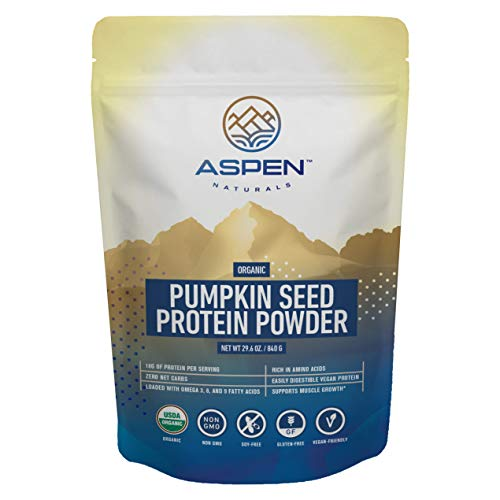 Organic Pumpkin Seed Protein Powder - Vegan Protein Powder, Plant Based, Gluten Free, Rich in Amino Acids & Essential Fatty Acids, Boost Immune System, Aids Weight Loss, Improves Digestion - 24oz