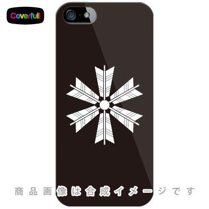 家紋シリーズ 六つ矢車 (むつやぐるま) (クリア) / for iPhone SE/5s/au