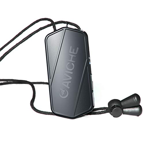 AVICHE M1 V3.0 Necklace Wearable Mini Personal Air Purifier with USB | Negative Ion Generator | Black