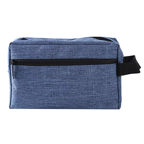 L_shop - Trousse de Toilette Multifonctions pour Entreprise, Sac de Rangement pour Sac à Main à poignée zippée, Bleu