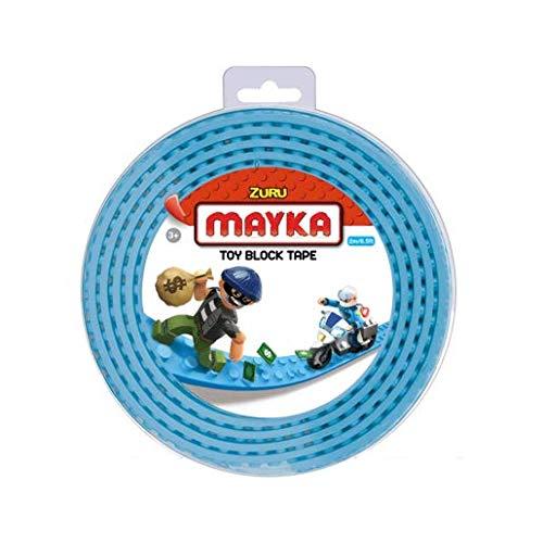 Mayka Tape Zuru Spielbaustein-Klebeband selbstklebend – 2 Pins – Hellblau – 2 Meter