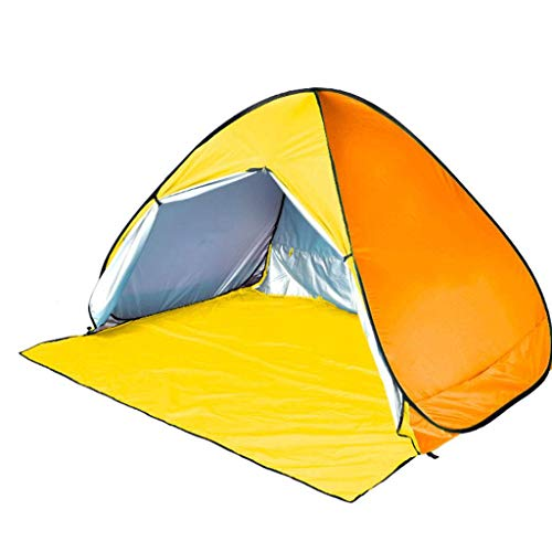 HUNOL Pop Up Tent, Tent Portable Beach Tent 3-4People Camping Tent Shading for Outdoor-A-200X160X125cm