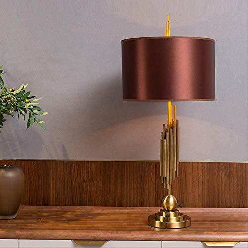 Moden Art Decor tafellamp voor slaapkamer bijzettafel creatieve metalen buizen op de tafellamp met metalen bollen