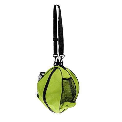 Gazechimp Bolsa de Baloncesto de Fútbol de Balonvolea Impermeable con Correa de Hombro Ajustable y Asa de Transporte - Verde