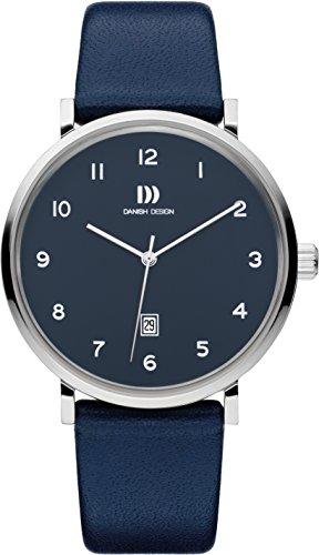 Danish Design Herren Analog Quarz Uhr mit Leder Armband IQ22Q1216