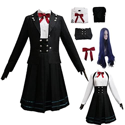 Danganronpa 3 Shirogane Tsumugi Cosplay Disfraz Shirogane Tsumugi JK Uniforme Escuela Halloween Uniforme Sailor Suit Falda plisada para mujer