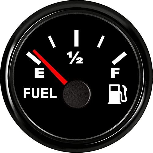 AODITECK Marine Fuel Gauge for Boat Gas Gauge Fuel Level Gauge for Car Truck Vehicle Diesel Automotive Replacement Aftermarket Gauge for Car Truck Vehicle SUV 240-33ohm with Backlight